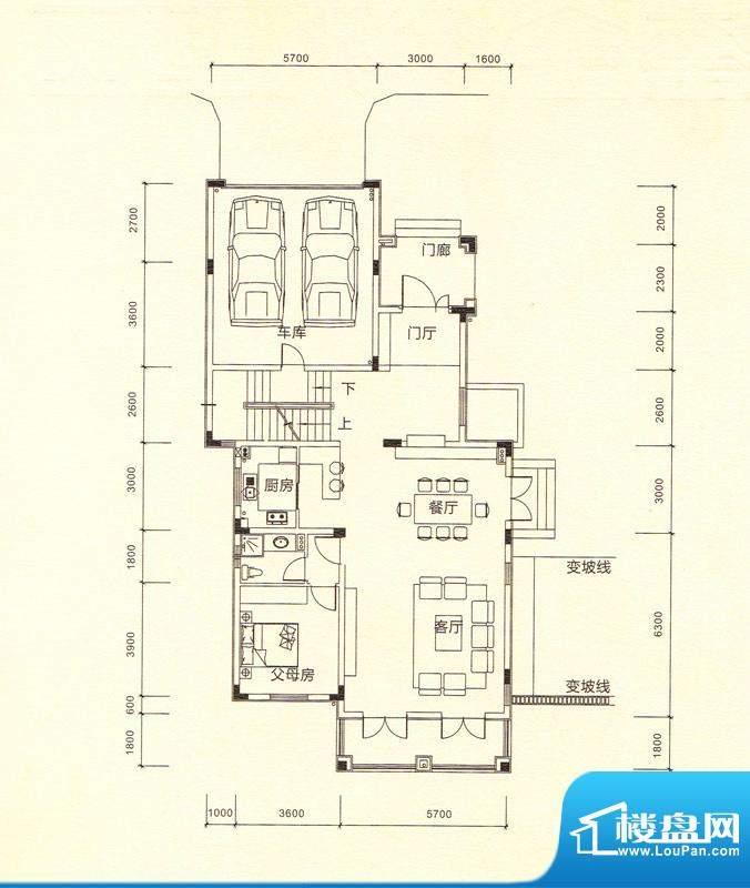 鎏金山V1a一层 5室3面积:389.16m平米