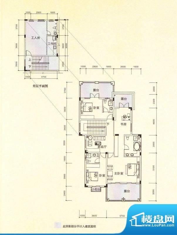 鎏金山V1a二层 5室3面积:389.16m平米