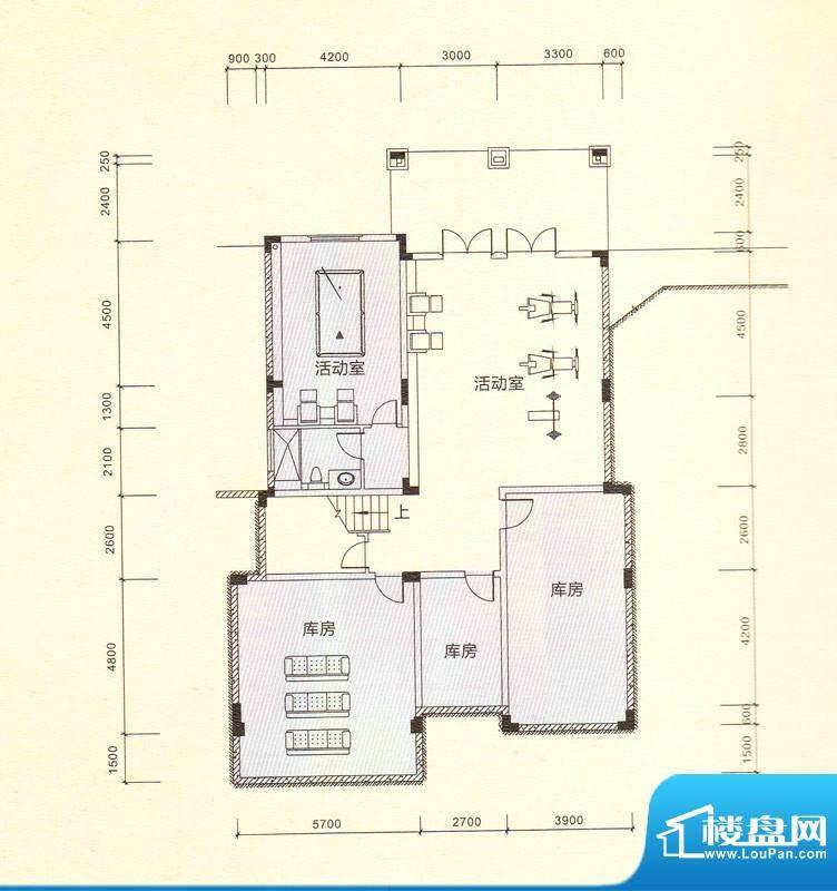 鎏金山V2a多功能室 面积:446.53m平米