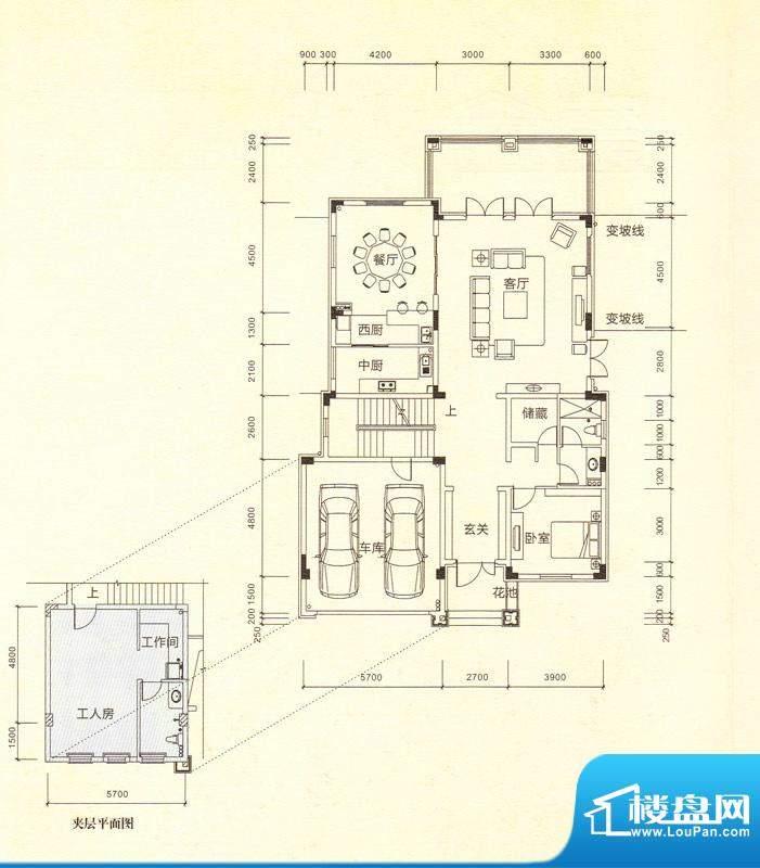 鎏金山V2a一层 5室3面积:446.53m平米