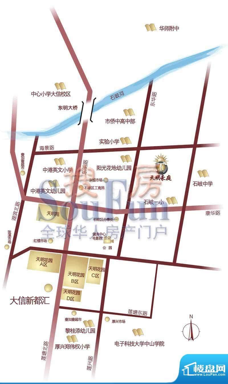 天明豪庭交通图
