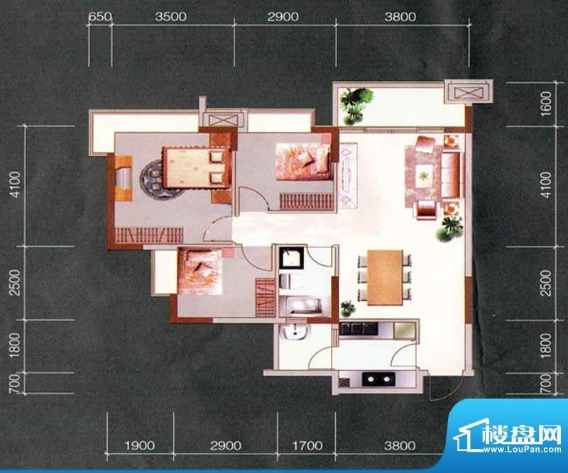 天明豪庭2栋04/05户面积:92.41m平米