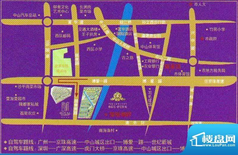 世纪新城交通图