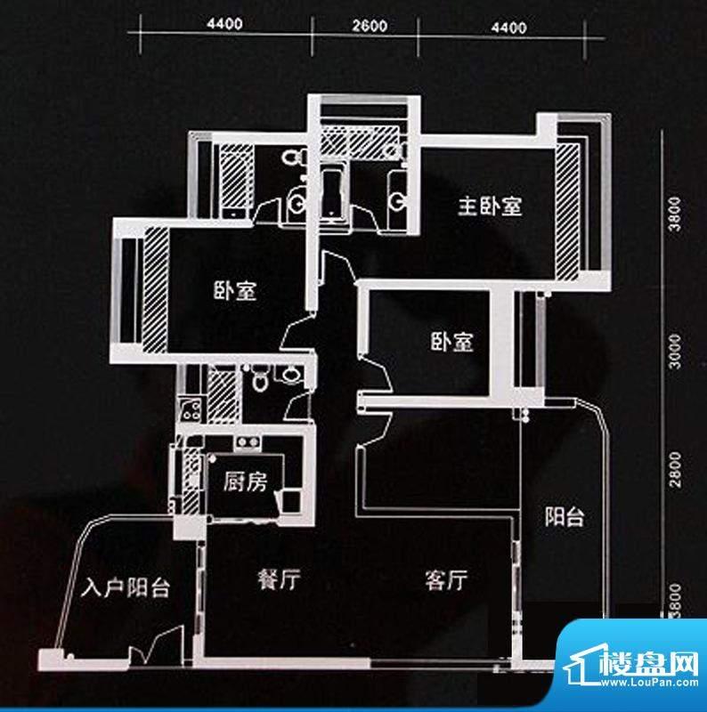 世纪新城v1户型(01面积:149.65m平米