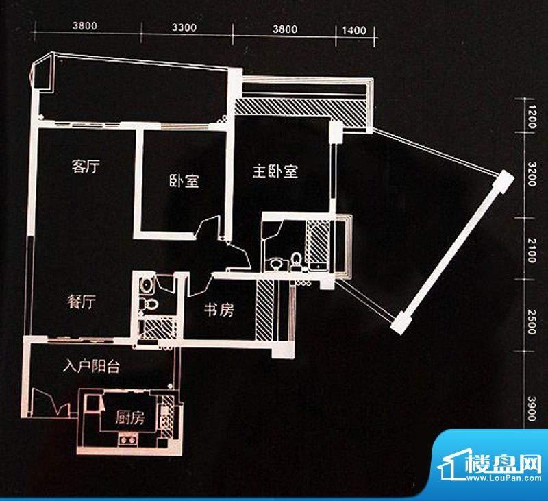 世纪新城v1户型(02面积:132.28m平米