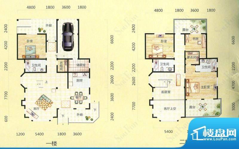 天池圣居7#楼B'户型面积:299.49m平米