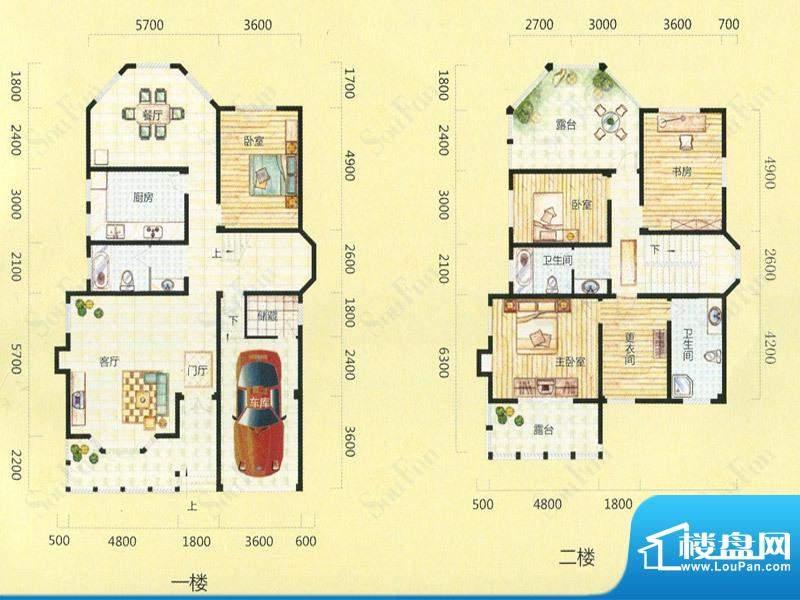 天池圣居12#楼G户型面积:256.30m平米