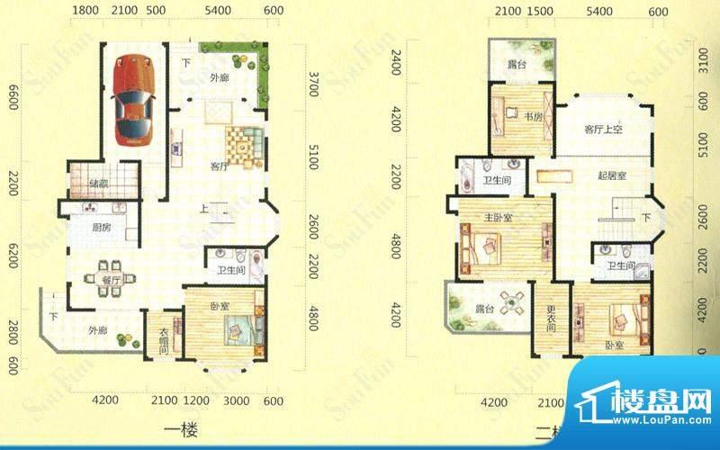 天池圣居20#楼B户型面积:294.50m平米