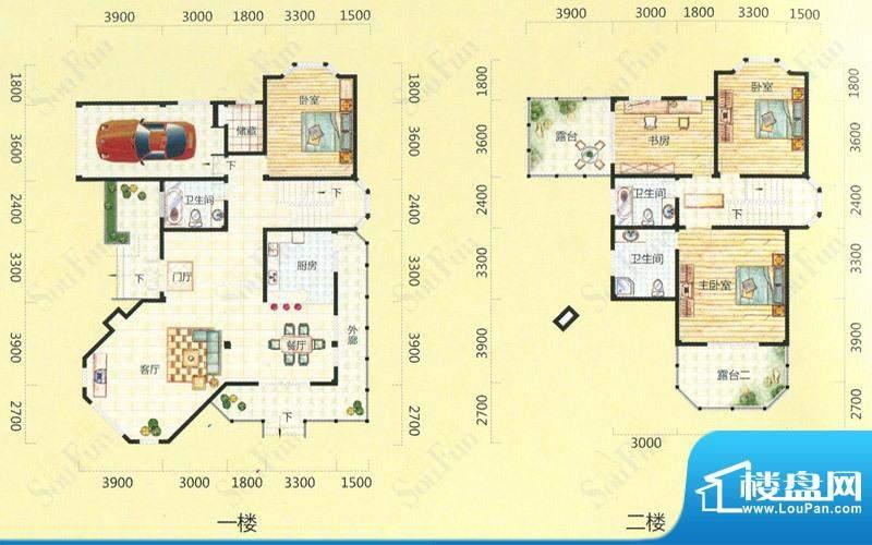 天池圣居28#楼D户型面积:279.60m平米