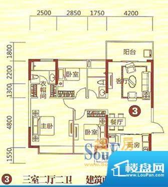 恒大绿洲28栋3号房户面积:123.00m平米