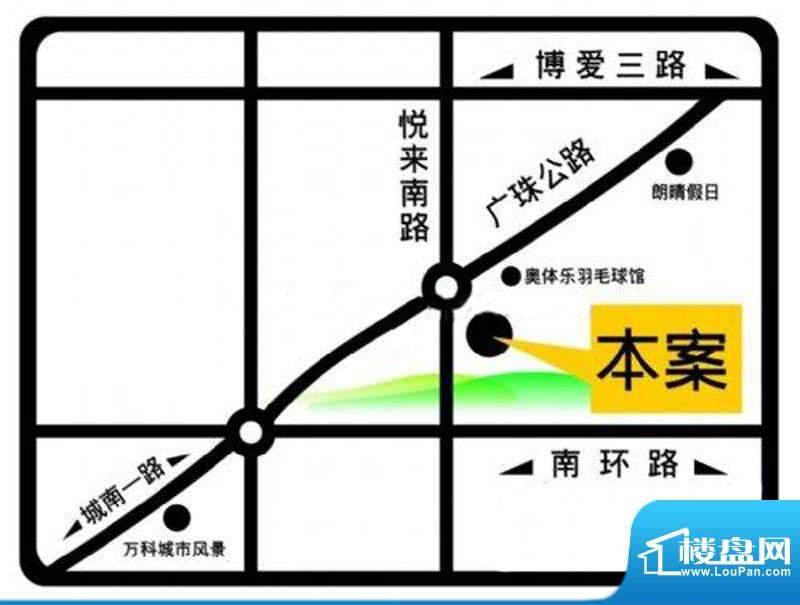 映翠豪庭交通图