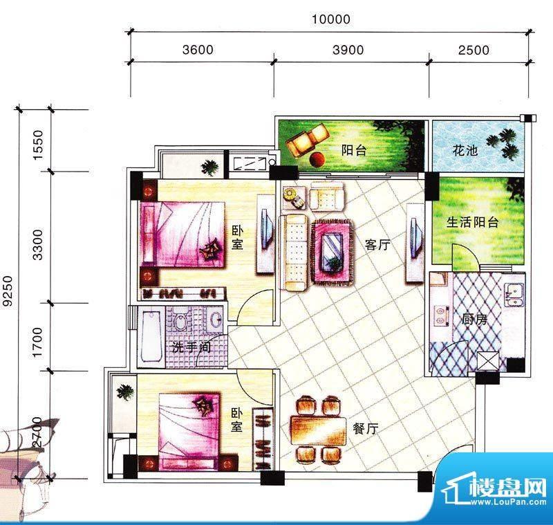 碧翠华庭1/2号楼01/面积:86.59m平米
