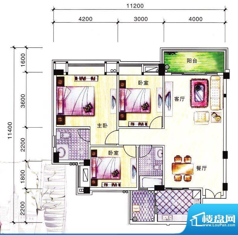 碧翠华庭3号楼01/02面积:106.77m平米