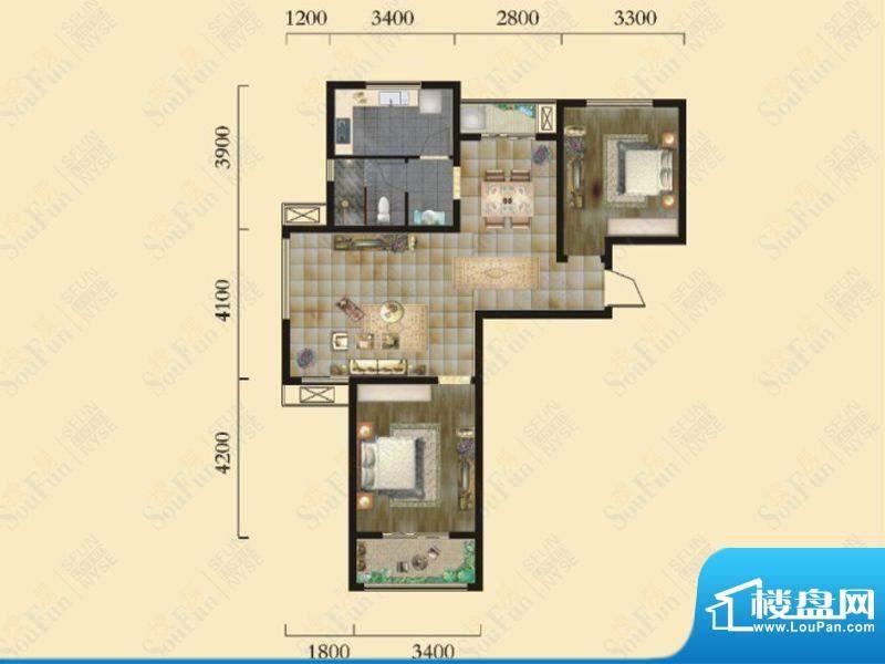奇瑞新里城9#楼F1户面积:95.53m平米