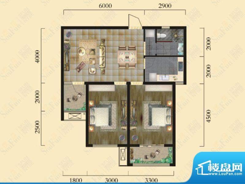 奇瑞新里城9#楼F2户面积:81.42m平米
