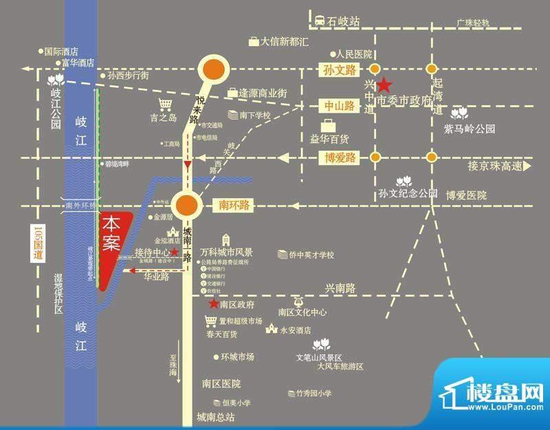 金水湾QQ复式交通图