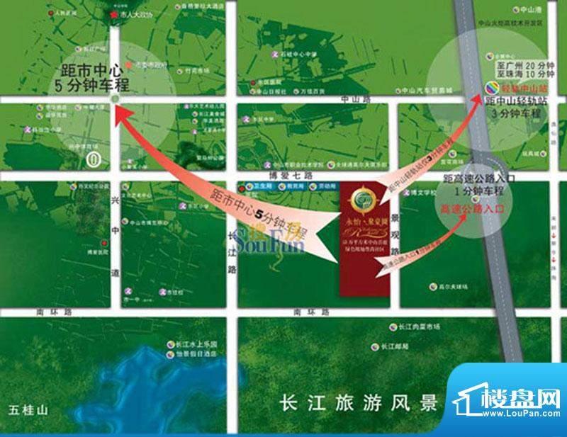 聚豪园交通图