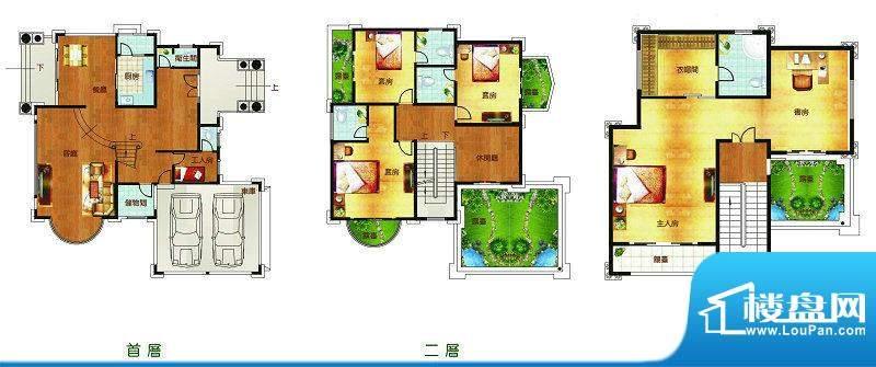 聚豪园C户型 6室3厅面积:448.56m平米