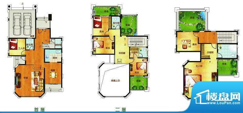 聚豪园E户型 6室2厅面积:345.23m平米