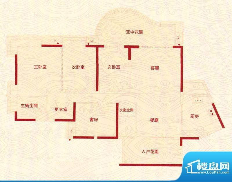 华鸿水云轩蝴蝶谷A户面积:0.00m平米