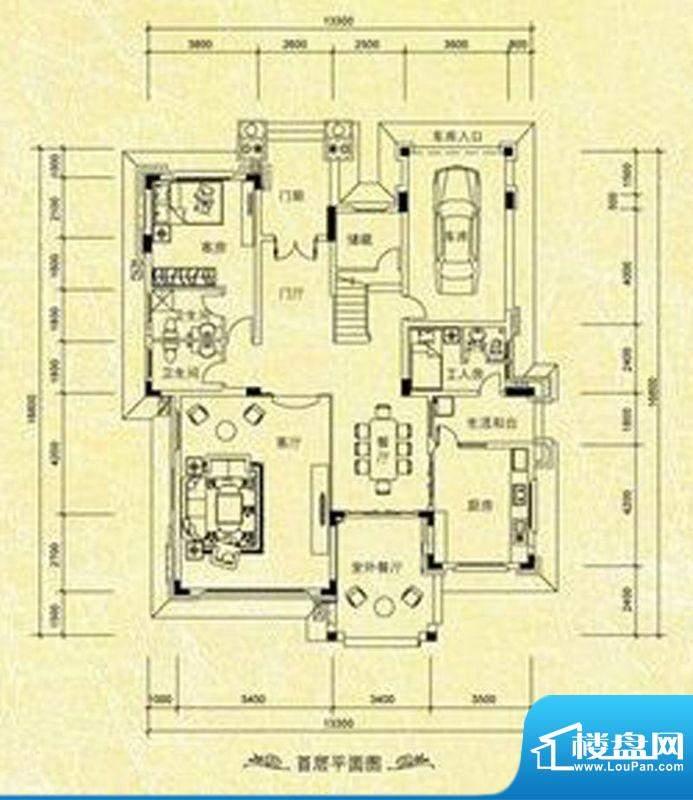 南桂园翡翠湾独栋C型面积:191.29m平米