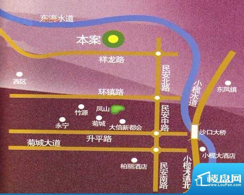 东海湾交通图