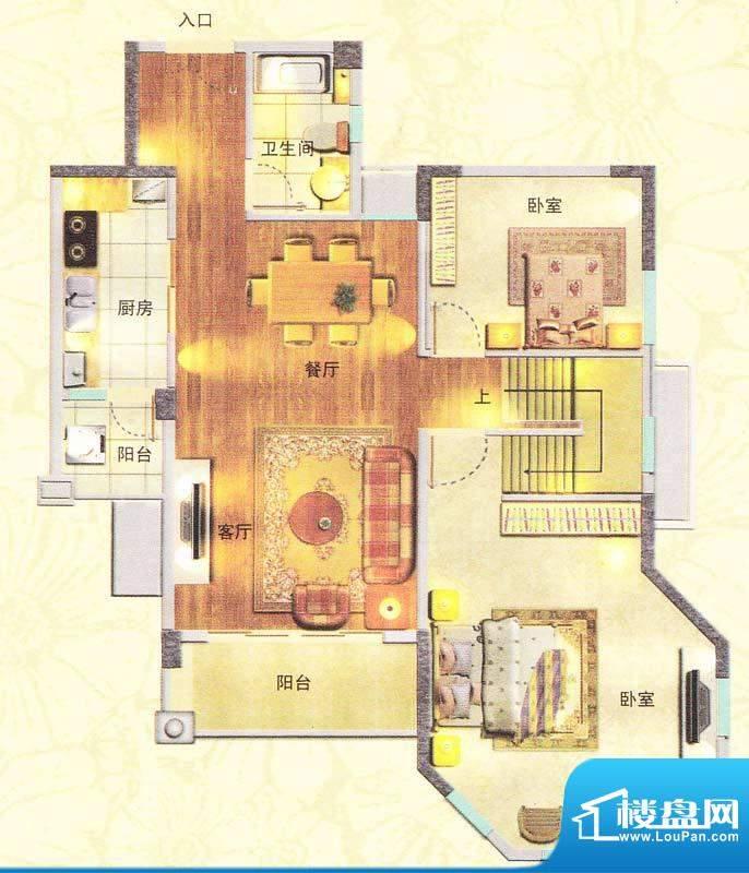 东海湾E3复式 5室2厅面积:213.00m平米