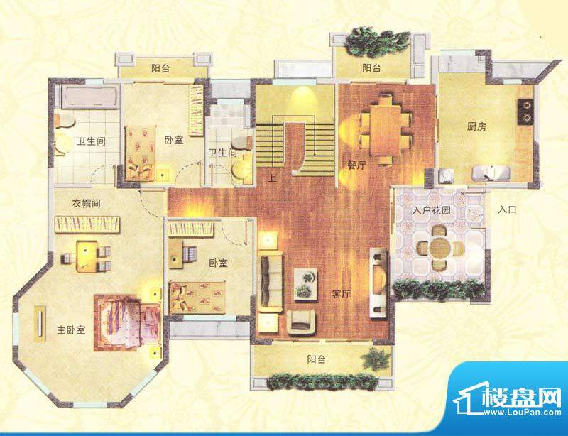 东海湾H3复式 6室4厅面积:348.00m平米