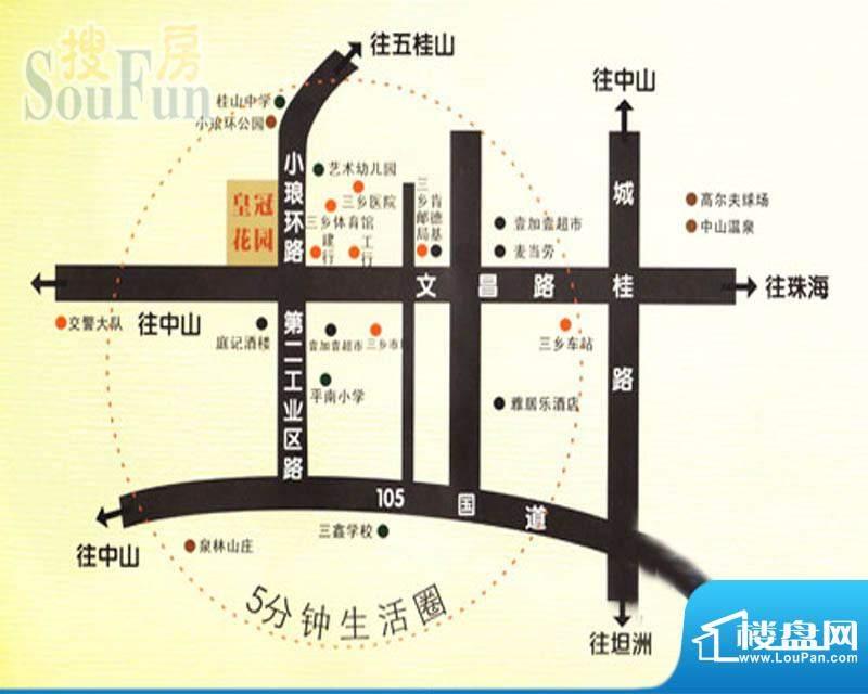 皇冠岭秀交通图