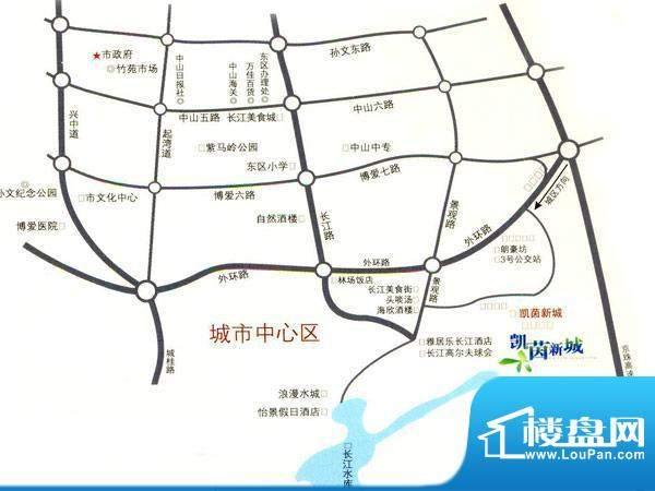 凯茵新城交通图
