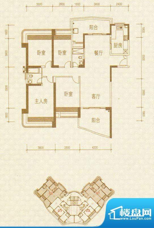 凯茵新城H2栋01-05号面积:172.52m平米