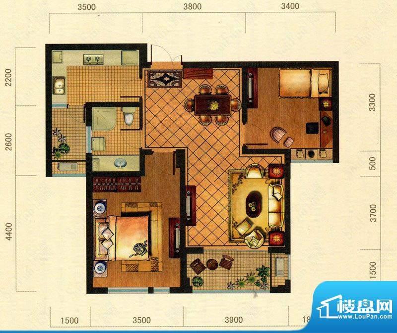大观花园27#楼A户型面积:0.00m平米