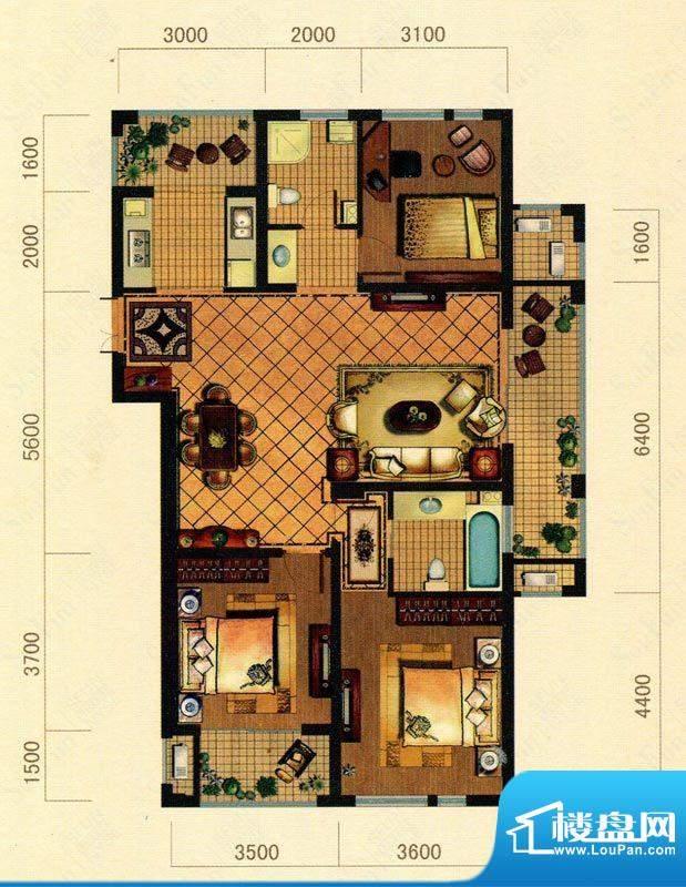 大观花园27#楼C户型面积:0.00m平米