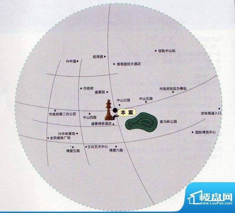 盛景尚峰中央生态花园交通图