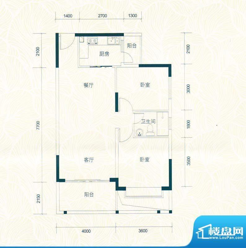 广物锦绣东方桂香居面积:89.26m平米