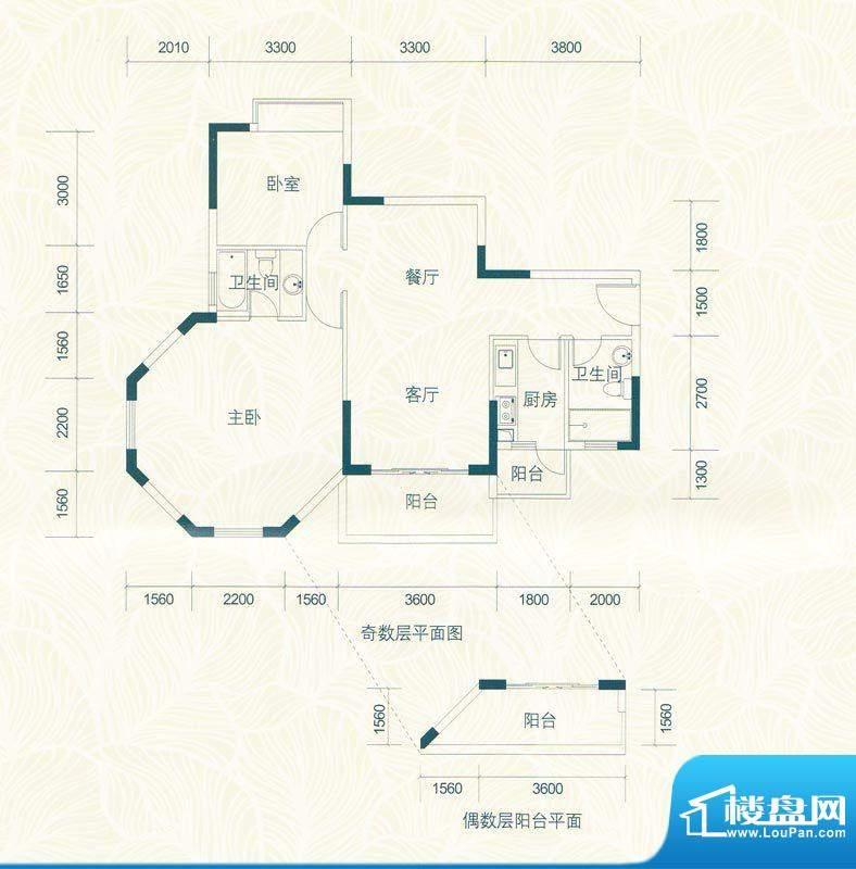 广物锦绣东方桂香居面积:97.54m平米