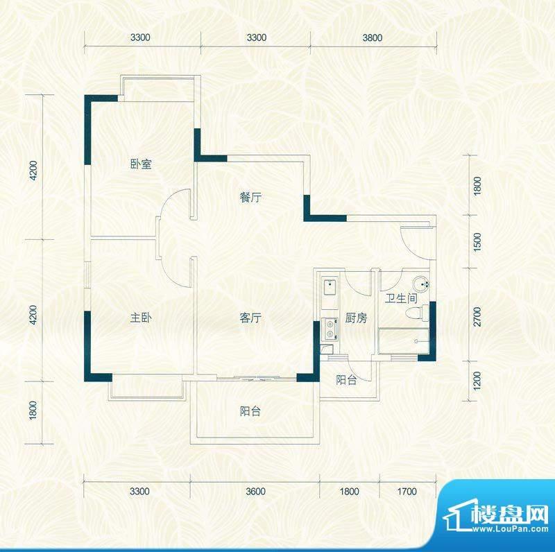 广物锦绣东方桂香居面积:82.81m平米