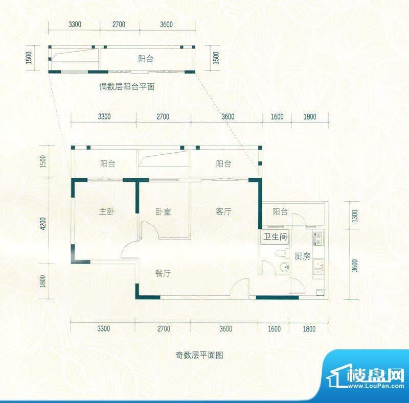 广物锦绣东方桂香居面积:81.78m平米