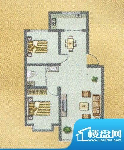 荣和城二期C户型 2室面积:90.00m平米