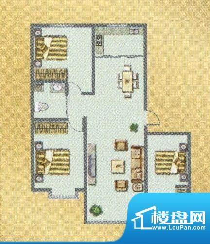 荣和城二期A户型 3室面积:113.00m平米