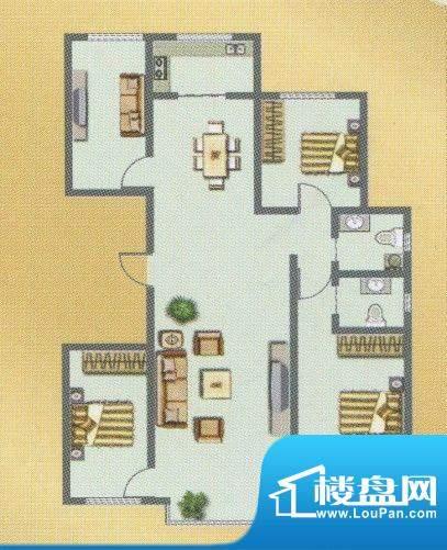 荣和城二期F户型 3室面积:139.00m平米