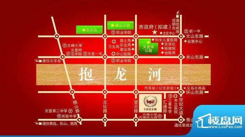 绿扬河景东城交通图