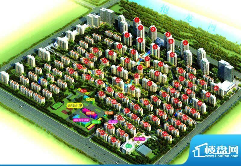 绿扬河景东城实景图