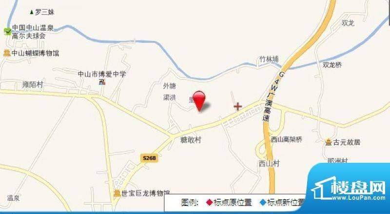龙山御景交通图