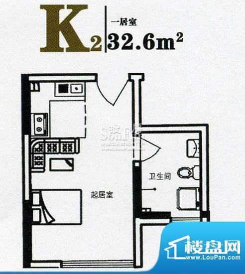 上尚华府碧海苑一期面积:32.60m平米
