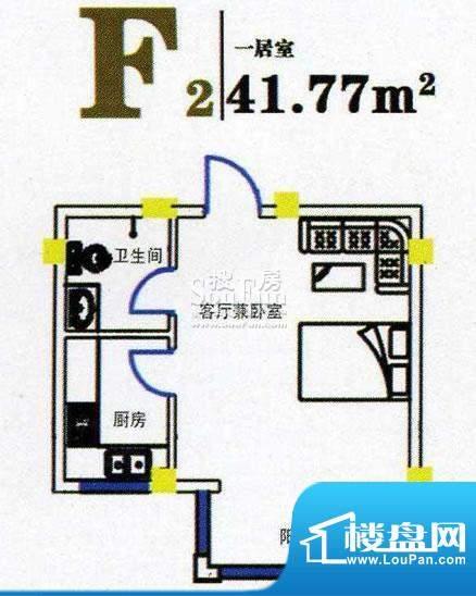 上尚华府碧海苑一期面积:41.77m平米