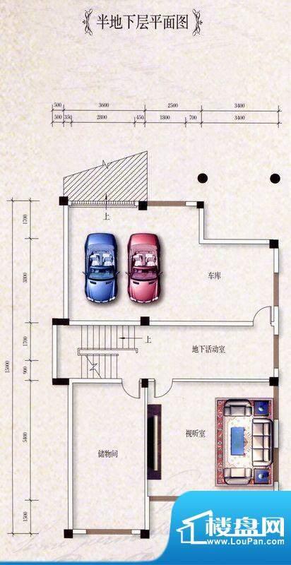 龙山御景类独幢别墅面积:427.03m平米