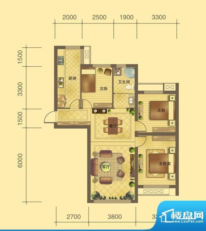 百商·托斯卡纳小城面积:101.22m平米