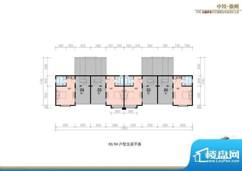 万福世家D10叠拼户型面积:0.00平米