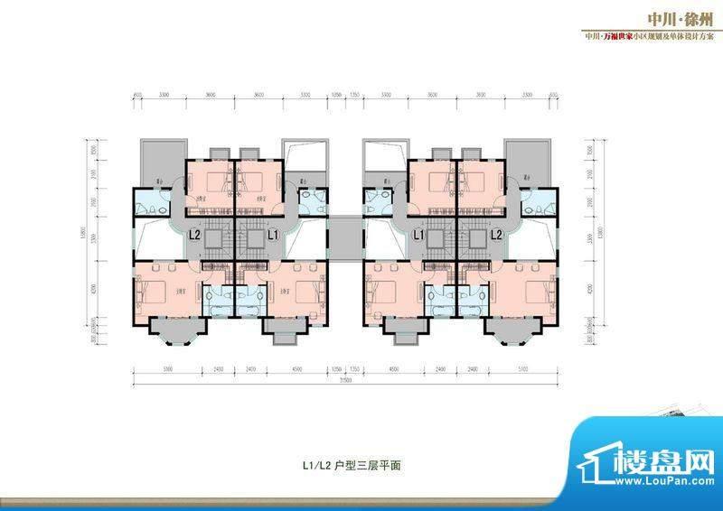万福世家D13联排户型面积:0.00平米